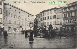 Toscana-massa-fivizzano Piazza Vittorio Emanuele Animata Bella Veduta Primi 900 - Italia
