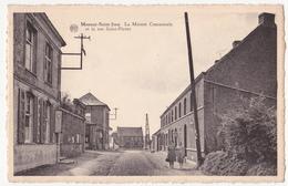 Masnuy-Saint-Jean: La Maison Communale.La Rue Saint-Pierre. - Jurbise