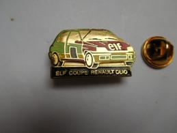 Beau Pin´s En EGF , Auto Renault Clio , Coupe Renault , Rallye , Carburant ELF - Renault
