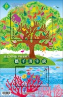 2016 Protect Environment Stamps S/s Forest Soil Monkey Elephant Butterfly Bear Squirrel Penguin Camel Fish Coral - Knaagdieren