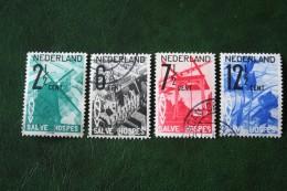 ANVV Zegels NVPH 244-247 (Mi 249-252) 1932 Gestempeld / USED NEDERLAND / NIEDERLANDE - Oblitérés