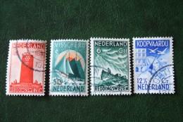 Zeemanszegels NVPH 257-260 (Mi 262-265) 1933 Gestempeld / USED NEDERLAND / NIEDERLANDE - Oblitérés