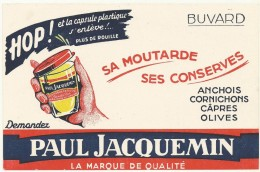 BUVARD NEUF SUPERBE  THEME MOUTARDE   PAUL JACQUEMIN - Moutardes
