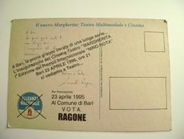 BARI 1996  INAUGURAZIONE CINEMA TEATRO MARGHERITA  PREMIO NINO ROTA MSI RAGONE POLITICA   EVENTO MANIFESTAZIONE - Manifestazioni