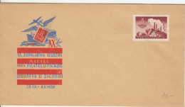 20th Exhibition Of Croatian Philatelic Society Zagreb Illustrated Special Letter Cover 1950 Bb161011 - 1945-1992 Socialist Federal Republic Of Yugoslavia