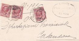 Italy 1926 Letter From Cutrone To Catanzaro - 1900-44 Vittorio Emanuele III