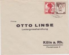 DR 3 Reich Zusammendruck ZD K 25 Nothilfe Trachten Bf Bahnpost 1936 - Se-Tenant