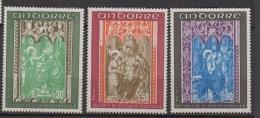 ANDORRE.1972-N°214/216**  RETABLE DE LA CHAPELLE  ST JEAN DE CASELLES - Andorre Français