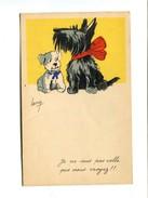 """Cp - CHIENS -  """"je Ne Suis Pas Celle Que Vous Croyez"""" - Illustrateur LACROIX - Hunde"""