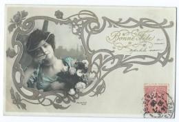 2322 - Bonne Fête Photo ARJALEW Femme Collier Roses Circulée Pour Stains  Ricard Série 1061 - Holidays & Celebrations