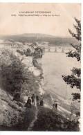 CPA.63.1917.POnt Du Chateau.Vue Sur Le Pont.animé Personnages. - Pont Du Chateau
