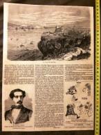 ANCIEN DOCUMENT 1860 COMPAGNIE ROYALE DES CHEMINS DE FER PORTUGAL VILLE DE LISBONNE GENERAL ORTEGA - Verzamelingen