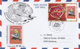 Yvert 3863A Timbre Personnalisé  Lettre 30 Ans Concorde Paris Caracas Cachet Tour Eiffel 9/4/2006 Tirage Limité 82/250