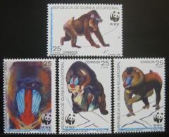 (WWF-114) W.W.F. Equatorial Guinea MNH Mandrill Stamps 1991 - W.W.F.