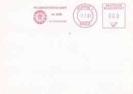 Police: Germany Card W/Machine Cancel 1983 Mainz Polizeigewerkschaft (SKO15-4F) - Policia – Guardia Civil