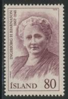 Iceland Island 1979 Mi 541 YT 494 * MH - Ingibjorg H. Bjarnason (1867-1941) Headmistress + 1st Female Member Althing - Beroemde Vrouwen