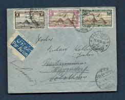 """Aegypten Cairo Luftpost Brief  Mit Vignette """"Par Avion"""" Nach Hägendorf Transit Solothurn 11.4.1934 - Poste Aérienne"""