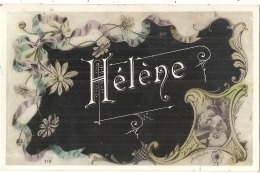 Fête Anniversaire - HELENE - TTBE -art Nouveau Fleuri  - écrite - Birthday