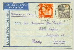 Nederlands Indië - 1934 - LP-briefje Van Bandoeng Naar Zürich - Posta Aera Roma Ferrovia - Niederländisch-Indien