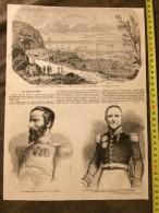 ANCIEN DOCUMENT 1860 SAINT DENIS ILE DE LA REUNION SAINT CLAIR RENOUARD GENERAL DIEU TREZEL - Old Paper