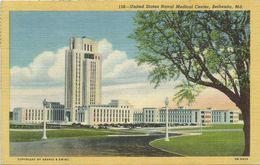 AK / PC USA Maryland Bethesda Naval Medical Center Color 1954 #69 - Stati Uniti