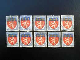 572  Lyonnais  Lot De 10 Timbres  1942 - France