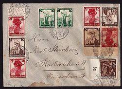 Deutsches Reich Brief Mit Mehrfachfrankatur (G-1-17) - Deutschland