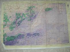 CARTE ETAT MAJOR ANGLAISE,1942,RAF,entoilée,MEKNES,FEZ,AFRICA - 1939-45