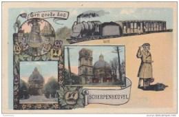 Groeten Uit Een Goede Dag Scherpenheuvel Stoomtrein Train A Vapeur 1936 Trein Train (In Zeer Goede Staat) - Scherpenheuvel-Zichem