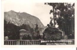 Parque De La Independencia, Bogota - Columbia RPPC  Examined By Censor - Colombia