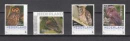 Nederland/Netherlands 2016,4V,30e Set,customized,RARE,owls,vogels,vögel,oiseaux,pajaros,,MNH/Postfris(D2373) - Owls