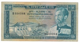 Ethiopia, 50 Dollars , 1966,  Crisp VF . Free Ship. To USA - Ethiopie