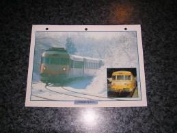 SNCF TURBOTRAIN RTG  Fiche Illustrée Train Descriptive Ferroviaire Chemin De Fer Français France Trains Locomotive Rail - Picture Cards