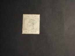 TURKS - 1882/94 REGINA  1/2 P. - NUOVO(+) - Turks E Caicos
