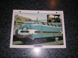 SNCF CC 65000   Fiche Illustrée Train Descriptive Ferroviaire Chemin De Fer Français France Trains Locomotive Rail - Picture Cards