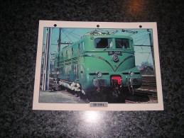 SNCF BB 9004   Fiche Illustrée Train Descriptive Ferroviaire Chemin De Fer Français France Trains Locomotive Rail - Picture Cards