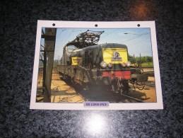 SNCF BB 12000  Fiche Illustrée Train Descriptive Ferroviaire Chemin De Fer Français France Trains Locomotive Rail - Picture Cards