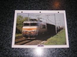 SNCF BB 7200  Fiche Illustrée Train Descriptive Ferroviaire Chemin De Fer Français France Trains Locomotive Rail - Picture Cards
