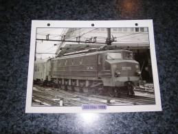 SNCF 2D2 5546 5550  Fiche Illustrée Train Descriptive Ferroviaire Chemin De Fer Français France Trains Locomotive Rail - Picture Cards