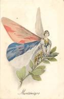 Guerre 1914-18 -ref L259- Illustrateur -insectes -papillons -papillon Humanisé - Le Montenegro  - Carte Bon Etat - - Montenegro
