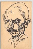 Selbstporträt Ludwig Meidner  Feldpostkarte  Mit Zensurstempel - War 1914-18