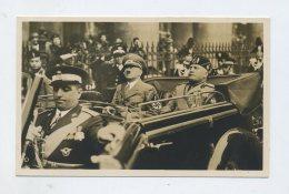 1938 Vatikan 3.Reich Photokarte Staatsbesuch Italien Adolf  Hitler +  Mussolini Im Offenen Wagen In Rom - Cartas