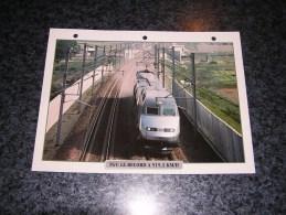 SNCF TGV RECORD  Fiche Illustrée Train Descriptive Ferroviaire Chemin De Fer Français France Trains Locomotive Rail - Fiches Illustrées