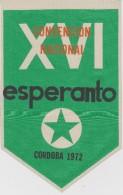(EFl) Flag Esperanto Conference In Argentina - Flago Pri La 26a Argentina Esperanto-Kongreso En Argentino - 1972 - Obj. 'Herinnering Van'