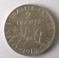 2 Francs 1915 - Semeuse - Argent - Superbe  - - I. 2 Francs