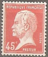France 1923/26  Neuf **  N° 175   Types Pasteur  ( 45 C  Rouge ) - 1922-26 Pasteur