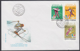 """Romania 1994, FDC Cover """"Olympic Games In Lillehammer 1994"""" W./postmark Bucurest"""