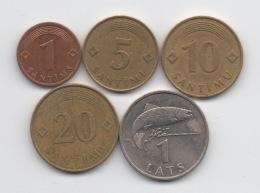 Lettonie : Série De 5 Pièces 1992-2008 - Lettonie