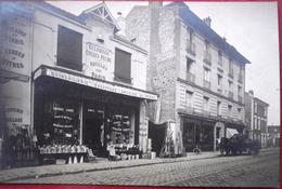 93 - Carte Photo - NEUILLY SUR MARNE - QUINCAILLERIE - A LA CLOCHE D'OR, - BANCE - PETIT - Rue De PARIS - DEVANTURE - Neuilly Sur Marne