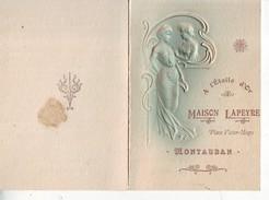 82 MONTAUBAN  à L'étoile D'or Maison LAPEYRE Très Belle En Relief Pub 2 Volets  2scans - Montauban